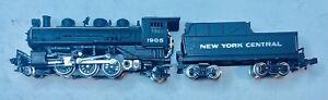 Bachmann N Train PRAIRIE 2-6-2 NYC Locomotive.  For Parts, Does No Run