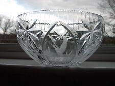"Webb Corbett Large Cut Crystal  Fruit Bowl With Engraved ""Ducks In Flight"""