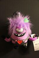 "One 6"" Purple Valentine Crazy Minion Soft Plush Toy Doll , DESPICABLE ME"