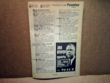 1967 JIM IRWIN Green Bay Packers wluk tv AD PRINT ONLY,sportscaster