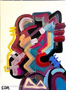 EXPRESSIONIST MODERNIST PAINTING DECOR WALL ART PORTRAIT CONTEMPORARY ORIGINAL
