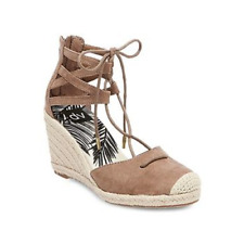 2f0ed2401fc WOMEN S DV MANICA GHILLIE ESPADRILLE WEDGE SANDALS Taupe Brown Size 5.5