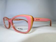 MIU MIU EYEGLASSES VMU 01L LAJ-101 PINK - HONEY FRAME 100% AUTHENTIC 53mm - 75