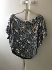 Traffic people Beautiful Sequined Top Size Large