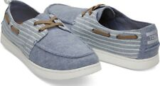 Toms Blue Chambray Stripe Men's Culver Boat Shoes