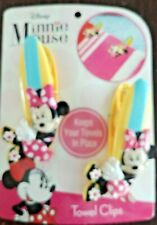 New in package / Disney Minnie Mouse Towel Clips / keeps towels in place