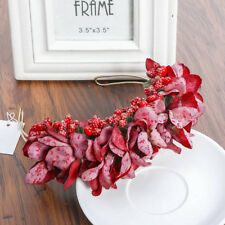 Women Girls Flower Headband Garland Hairband Hair Hoop Floral Crown Bridal Party