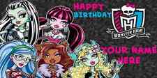 Birthday banner Personalized 4ft x 2 ft Monster High