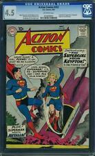 Action Comics #252 CGC 4.5 DC 1959 1st Supergirl! Superman! JLA! G7 252 cm clean