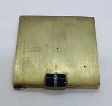 Antique Austrian Sterling Silver Gold Vermeil Rose Diamond Compact Case Box