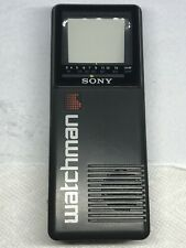 SONY Watchman Portable TV B&W FD-2A Tested Works!
