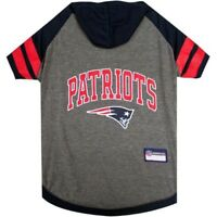 New England Patriots NFL Pets First Sporty Dog Pet Hoodie Tee Shirt Sizes XS-L