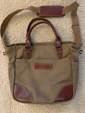 Boyt Harness Company Tote Bag - Khaki and Leather - Excellent Condition!