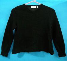 Women's Calvin Klein Sweater Black Extra Fine Italian Merino Wool M