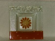 "Glass Flower Dish 6.5"" x 6.5"""