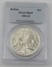 2001-D PCGS MS69 Buffalo 1oz .999 Silver Dollar - 21008266