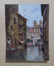 Spanish Steps from the Via Condotti in Rome by Carlo Montesi