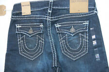 Nwt True Religion Men Red Denim Jeans Super T Ricky Straight 34 x 34