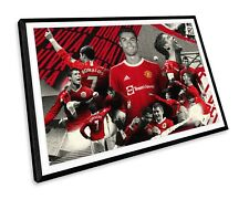More details for cristiano ronaldo 7 manchester united football wall art print poster picture