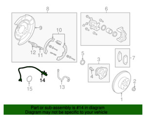 INFINTI Q50 Q60  REAR SPEED SENSOR ABS SENSOR RIGHT SIDE : 47900-4GA0A