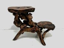 Vintage Wood Stand 2 Tiers