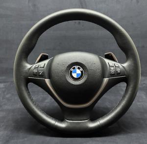 BMW X5 X6 E70 E71 STEERING WHEEL MULTIFUNCTION SHIFT PADDLES HEATED M POWER OEM