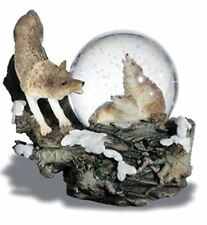 Novelty Howling Wolf Snow Globe Wolves Ornament Waterball
