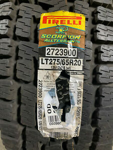 1 New LT 275 65 20 LRE 10 Ply Pirelli Scorpion All Terrain Plus Tire