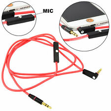 3.5mm Audio Aux Male To Male Headphone Car Stereo Extension Cable Cord with Mic