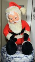 Vintage Large SUPERIOR TOY AND NOVELTY Santa Claus - Sitting - Rubber Face