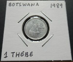 Botswana 1 Thebe 1989 Coin in 2x2 Flip A1109