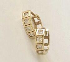 9ct Yellow Gold Huggie Sleeper Pierced 1.38G Earrings SHIELS RRP $299