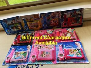 Kids Diff Characters/Paw Patrol Watch&Wallet Accessories Electronic Toy Gift Set