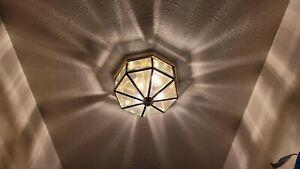 Vintage brass dome light ceiling light fixture