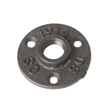 """1/2"""" Malleable Thread Floor Flange Iron Pipe Fittings Wall Mount Industrial"""