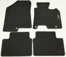GENUINE HYUNDAI i30 Mk2 VELOUR CARPET MATS MAT SET GD 2012-2017 BLACK REF 486