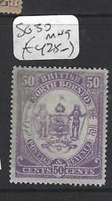 NORTH BORNEO (P1812B)  50C ARMS, LION  SG 30  MNG