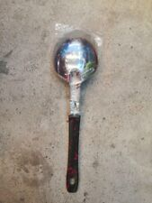 Steel Ladle with black red handle