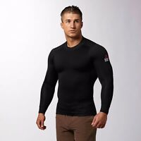 New Men's REEBOK Crossfit Cold Weather Mock Compression Shirt - Z89211 MSRP $95