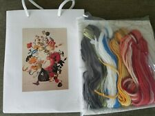 Floral Embroidery Crewl Kit