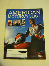 November 2011 American Motorcyclist Magazine, Class of 2011 (BD-16)
