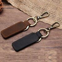 KEY CHAIN & LEATHER Belt Loop Key Holder Ring Keyring Keychain Keyfob Detachable