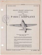 APRIL-1945 WWII AAF P-80 JET FIGHTER PILOTS FLIGHT MANUAL AIRCRAFT HANDBOOK-CD