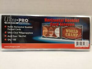 NEW Ultra Pro 10ct Horizontal Booklet Card Soft Sleeves Ultra Clear