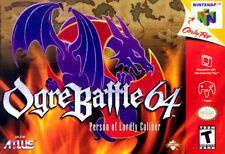 ***OGRE BATTLE: PERSON OF LORDLY CALIBER N64 NINTENDO 64 GAME COSMETIC WEAR~~~