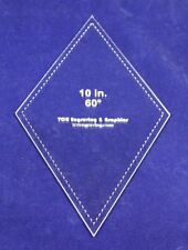 "Quilt Templates- Diamond 10""-60 Degree - 1/8"" Acrylic"