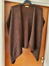 Womens size 20 TU short sleeve cardigan poncho style dark brown