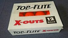 VINTAGE PACKAGE OF 12 TOP FLITE X- OUTS GOLF BALLS ORANGE FACTORY SEALED