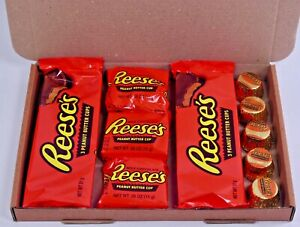 Reeses American Candy Gift Box Hamper - Reeses Peanut Butter USA Chocolate Gift