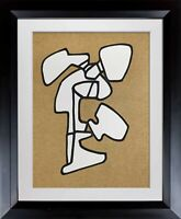 Jean Dubuffet LITHOGRAPH Limited EDITION -  Abstract Vacuum Forms w/Frame